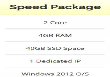Windows VPS Renewable - 4GB RAM - 2 Core - 40GB SSD - Unlimited Bandwidth