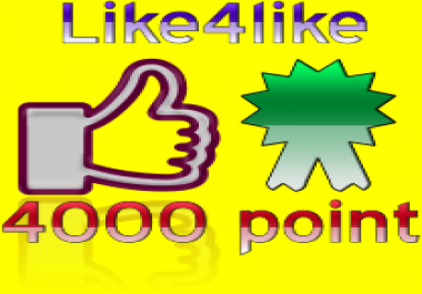 give you seo like4like 4000 points instant delivery time