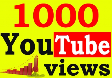 Fast 1000+ High Retention 90 To 100 percent YouTube Views