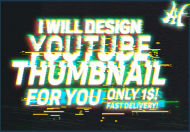 Design 5 Youtube THUMBNAILS for you! Fast Delivery!