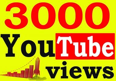 Fast 3000+ Adsense Safe HQ Retention 99% YouTube Views Non Drop