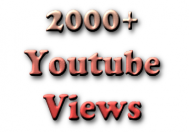 GET 2000+ Real Human Good Retention Youtube Views + 50 Likes