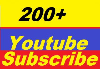 Safe 200+ Non Drop High Quality YouTube Subscribers Give You