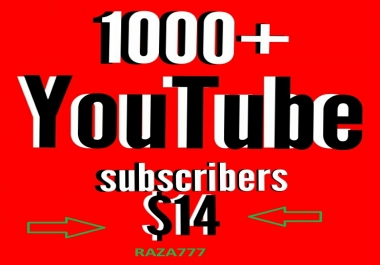 1000 youtube subscribers 40+ You tube custom comment 20+ like free delivery time Within 24-48 hours