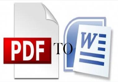 Convert PDF document  To Word document
