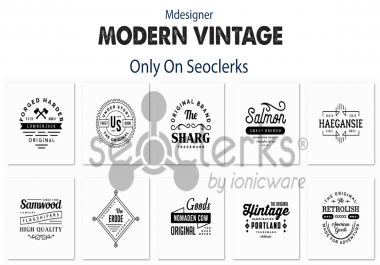 Design 2 Vintage Retro Logo