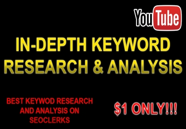 In-Depth YouTube Keyword Research & Analysis (5 Keywords!)