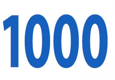1000 Followers, Likes, subscriber or view to your social media profile