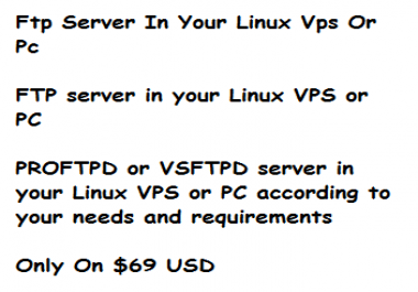 I'll Setup a FTP Server on Your VPS or PC at Low Prize