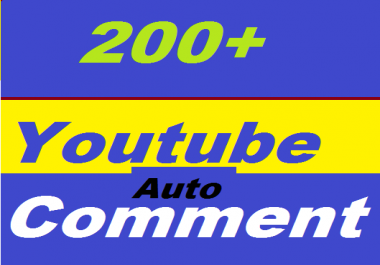 200+ YouTube Auto Comment Or 950+ YouTube Likes Or 200+ YouTube Subscribers Non Drop Give You