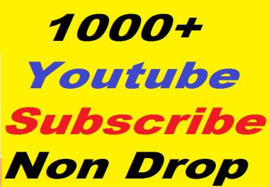 Safe 1000+ YouTube non drop Subscribers Refill Guaranteed