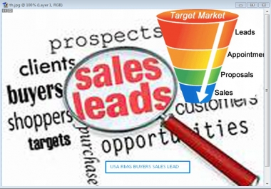 Provide Sales lead of USA RMG Buyers