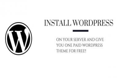 Install Wordpress on your server and add a PAID theme on it FREE with all necessary plugins!