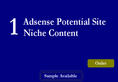Super Micro NIche Adsense Sites Guaranteed Earnings Exclusive #Seoclerks