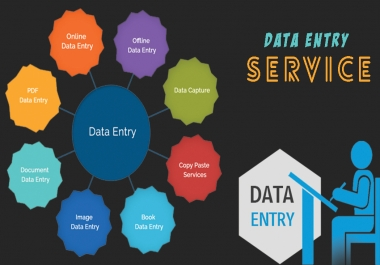 Do any kind of data entry service in 6 hours