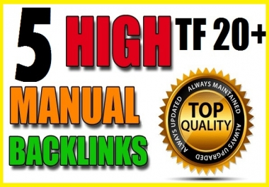 5 Quality TF 20+ PBN Backlinks with Unique Content - Manual PBN posts