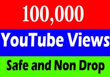 Fast 100,000 or 100k or 100000 YouTube Views  with 100 Likes