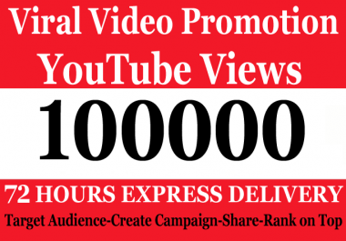 Safe 100000 100k or 100,000 YouTube Views with 150 Likes