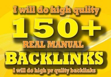 Create 150 Manual SEO Backlinks,For You