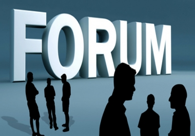Do 40 Forum Post on your forum