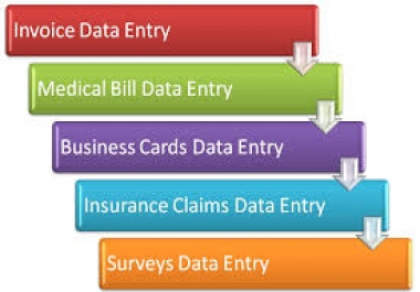 Any type of Data Entry work  5 hours for