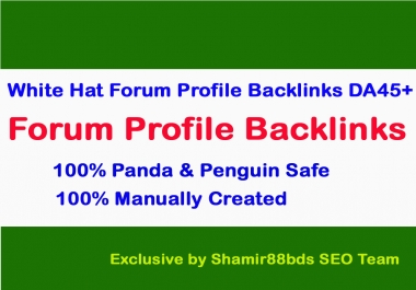40 Dofollow Forum Profile Links to Skyrocket Website or Video DA45+