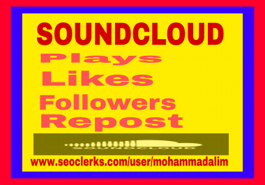 Instant offer 1000-1400 Soundcloud followers  super fast delivery