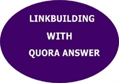 Guaranteed 25 Quora answer backlink