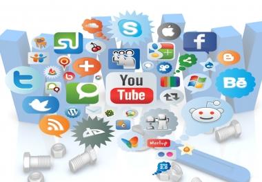 Provide you 50+ PR9 to PR6 Social Backlinks