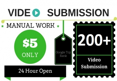 I will manually submit youtube video to 200 video sharing websites