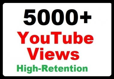 5000+ YouTube Views High Retention and Safe Video Promotion instant start just
