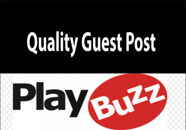 Publish A Guest Post On playbuzz.com