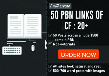 Active Best Buy 50 PBN backlinks with an Awesome Metrics