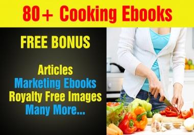 Over 80 Cooking Plr, MRR Ebooks