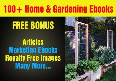 Over 100 Home And Gardening Mrr,Plr Ebooks