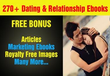 Over 270 Dating, Relationship Plr,Mrr Ebooks, Articles