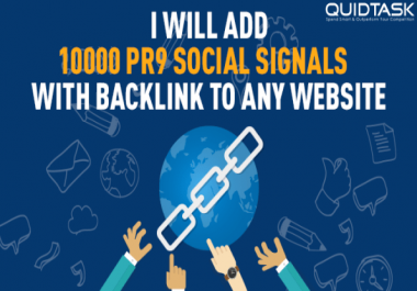 Build 10,000 PR9 Social Signals and promote to 1 Million people boost SERP, SEO and Traffic