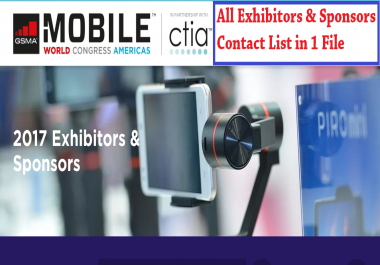 Mobile World Congress 2017 Exhibitors & Sponsors Contact Email List