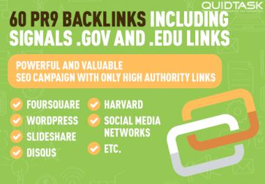 60 PR9 BACKLINKS including SIGNALS, SOCIAL and TUMBLR links