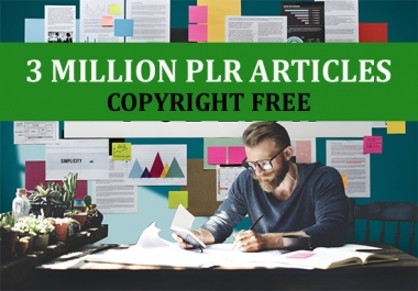 3 Million Plr Articles With Free Copyright
