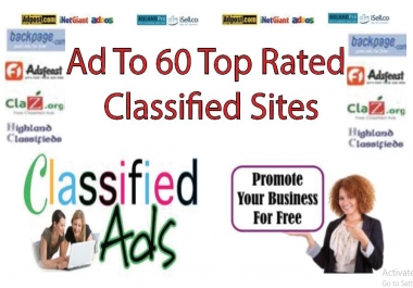 Post Your Ad To 60 Top Rated Classified Sites