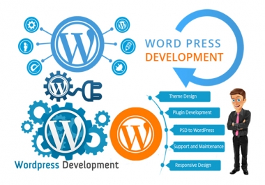I will create a professional premium wordpress website design and development