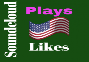 Get 1000 USA/UK Soundcloud High Retention Plays 20 Likes