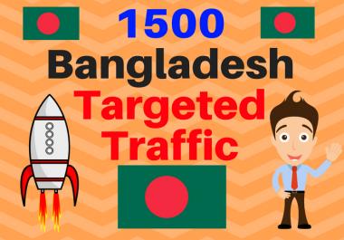 1500 Bangladesh TARGETED Human traffic to web or blog site. Get Adsense safe and get Good Alexa rank