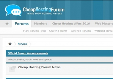 Advertise Your Banner On Cheap Hosting Forum
