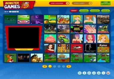 Build Arcade Games Online Website
