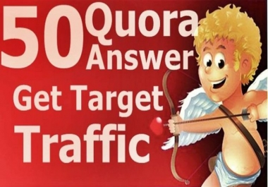 Promote website with Real traffic by 50 Quora answer backlink
