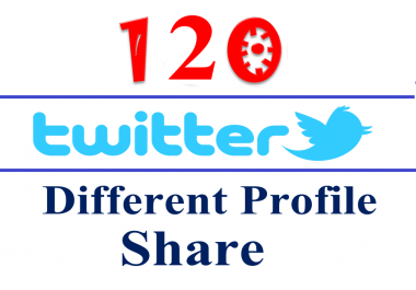 Safe Manually 120 Different Twitter Accounts Tweets / Shares / Bookmarking for Websites, Blogs, Videos, Etc..