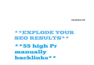 Explode Your SEO Results With 55 High Pr Manually Backlinks