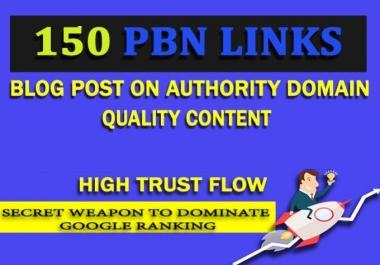 150 High Quality PBN DoFollow Backlinks High PA DA